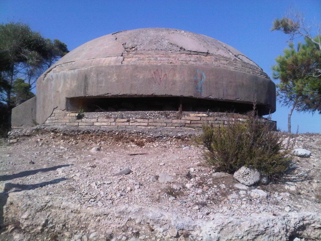 Vestigios de la Guerra Civil en la costa sur del Montsià