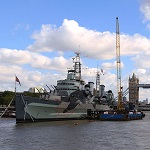 HMS Belfast Wikpedia Licencia Commons by Snowmanradio