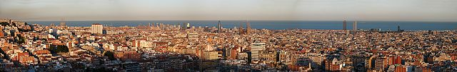 Vista de Barcelona desde el Putxet.