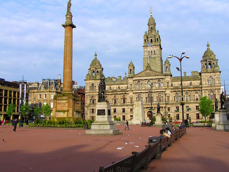 Una vista del centro de Glasgow.