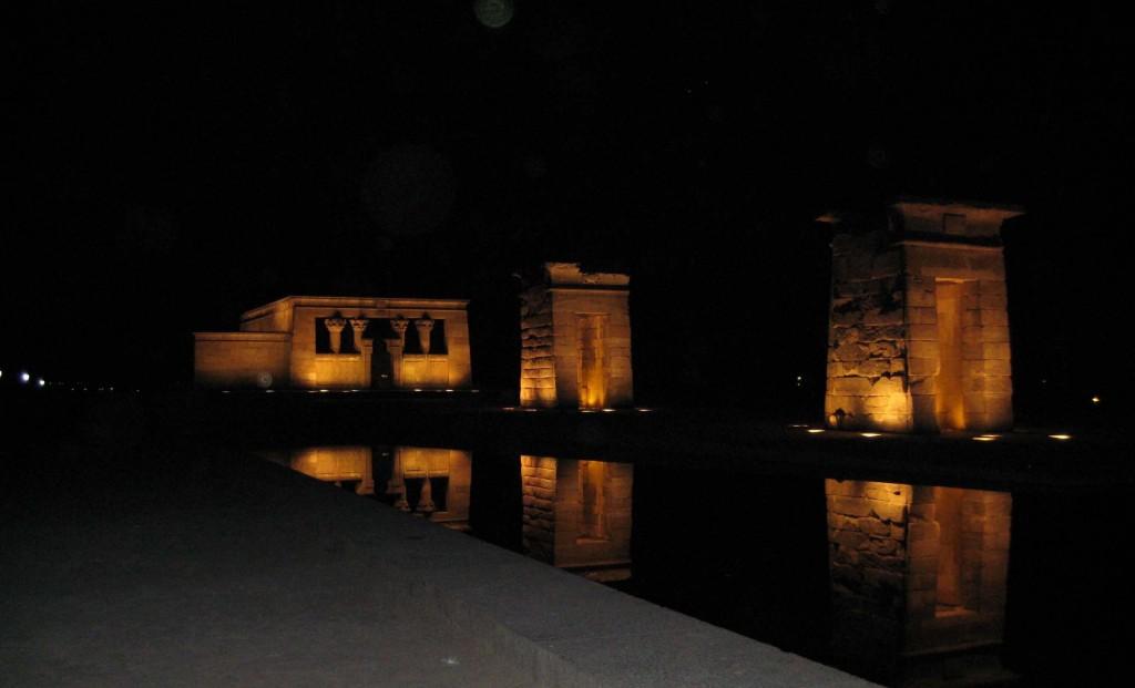 Anoche en el Templo de Debod MADRID