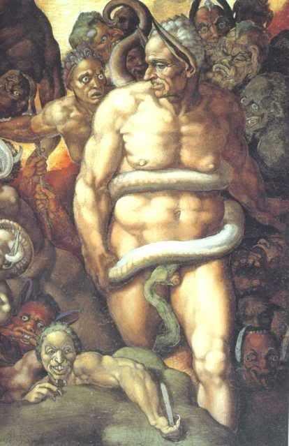 Biagio da Cesena en la Capilla Sixtina.