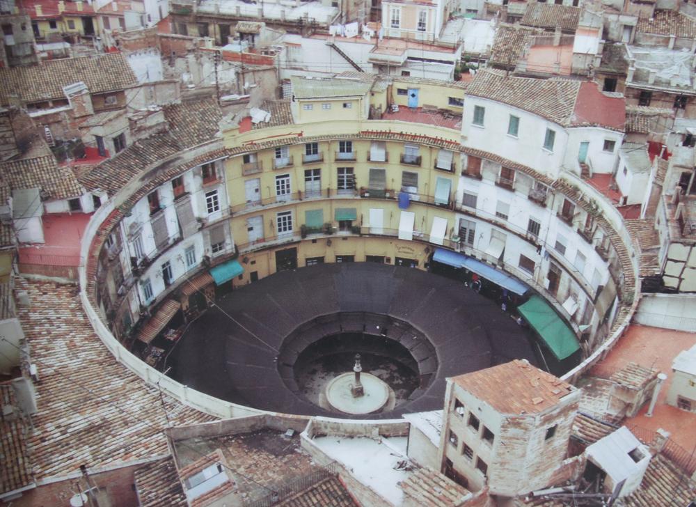 Vista aérea de la Plaça Redona antes de ser reformada (Valencia) © CostaFotografo.es