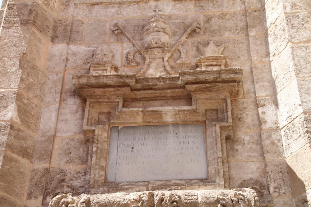 Placa conmemorativa de Santa Catalina ® CostaFotografo.es