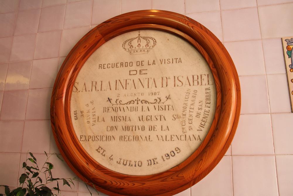 Placa conmemorativa de la Horchatería de Santa Catalina ® CostaFotografo.es
