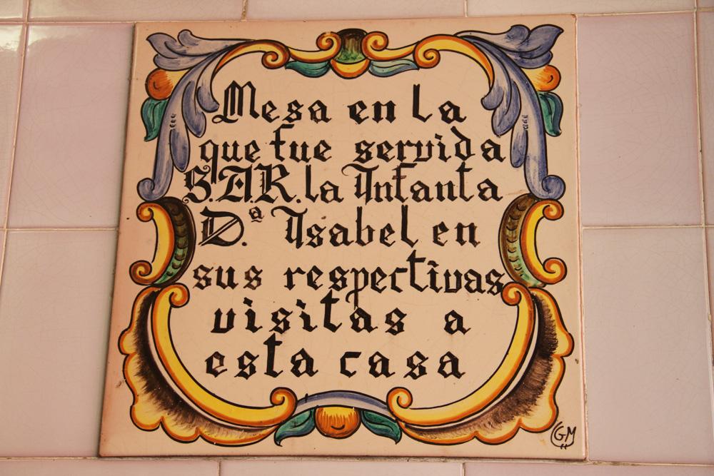 Placa de la Horchatería de Santa Catalina ® CostaFotografo.es