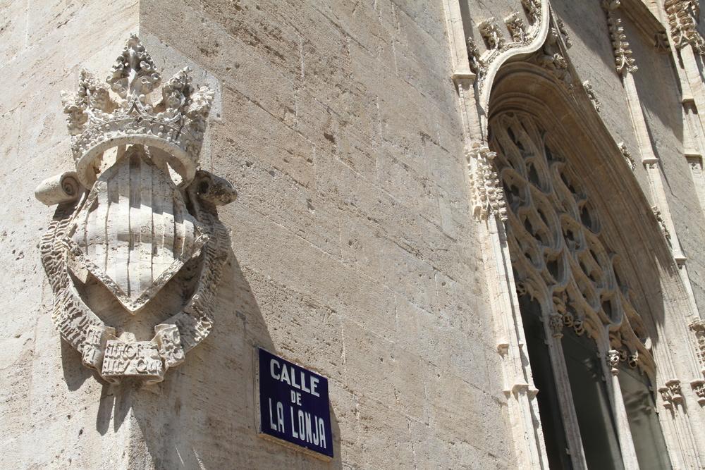 Escudo de la Lonja de la seda (Valencia) © CostaFotografo.es