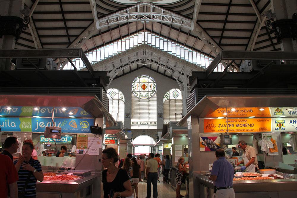 Vista general del Mercado Centra l de Valencia © CostaFotografo.es