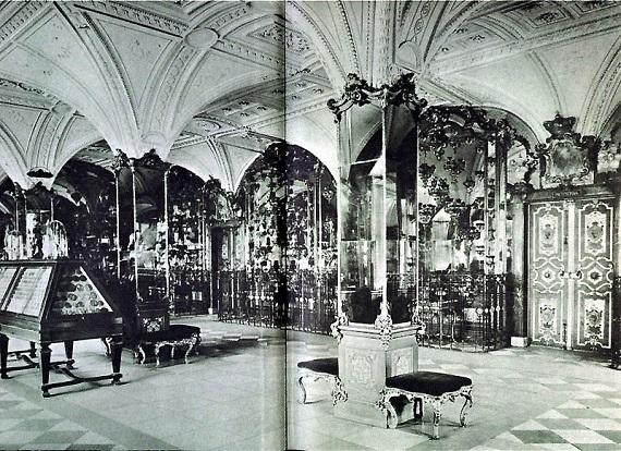 Una sala de la Bóveda Verde a principios del siglo XX.