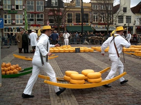 Mercado del Queso de Alkmaar.