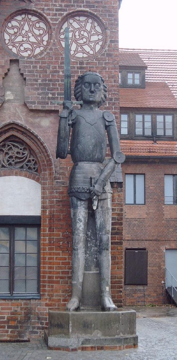 La escultura de Roland.