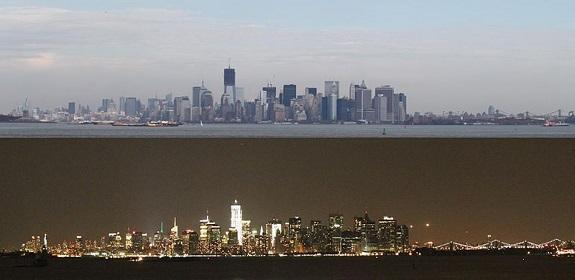 Nueva York y su skyline, de día y de noche.