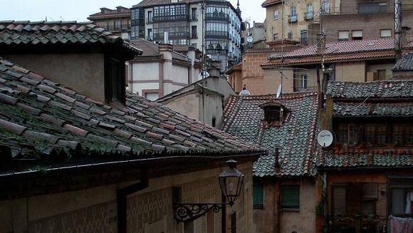 Tejas en Segovia.