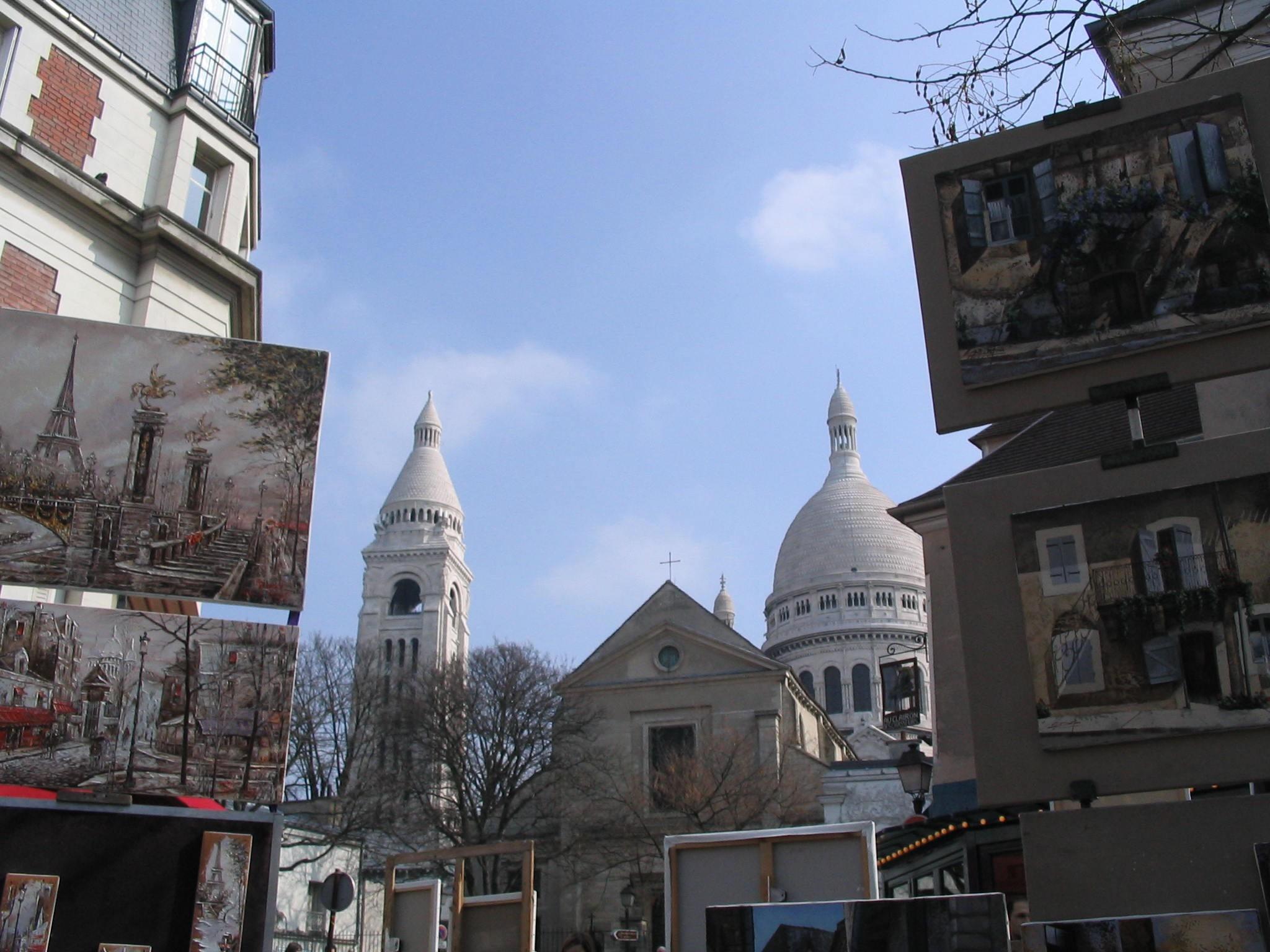 El barrio de Montmartre y la Basílica Sacré Coeur.