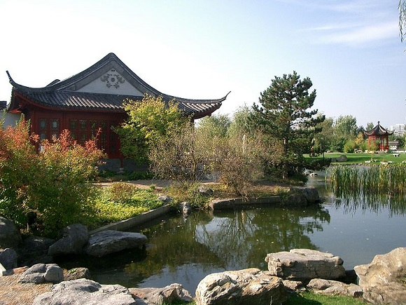 Jardín chino de Gärten der Welt.