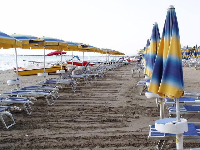 Una de las playas del Lido