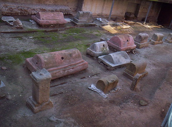 Cementerio romano de Barcelona.