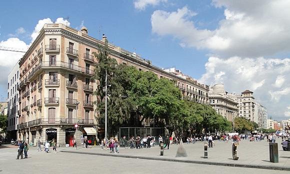 Plaça Nova de Barcelona.
