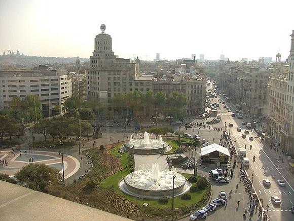 Plaza de Cataluña.