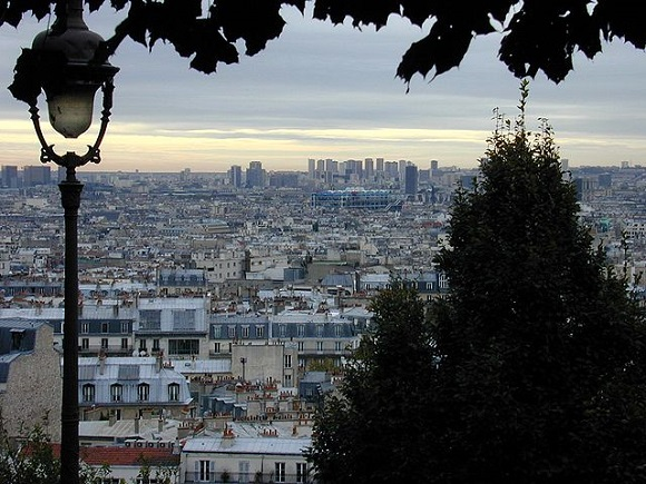 El centro de París desde Montmartre.
