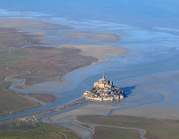 Mont St Michel vista aérea.