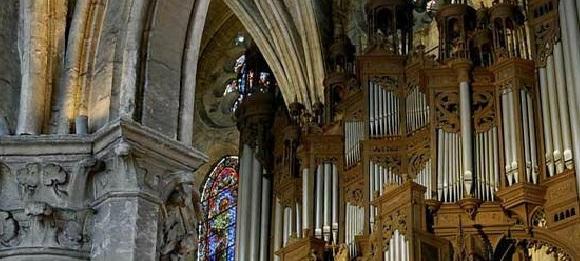 Órgano de la Catedral de Chartres.