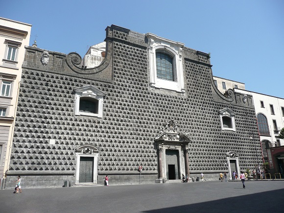 Iglesia del Gesù Nuovo de Nápoles.