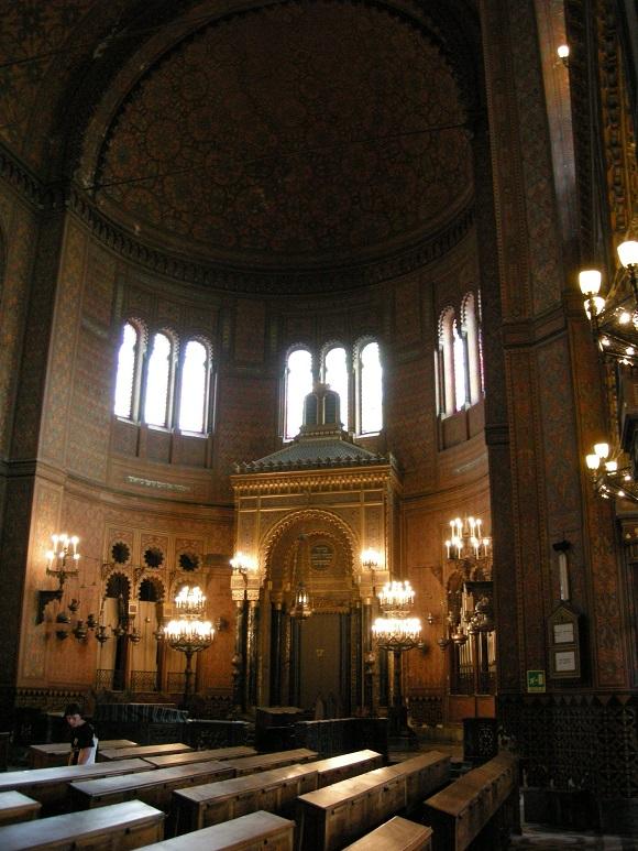 Interior de la Sinagoga de Florencia.