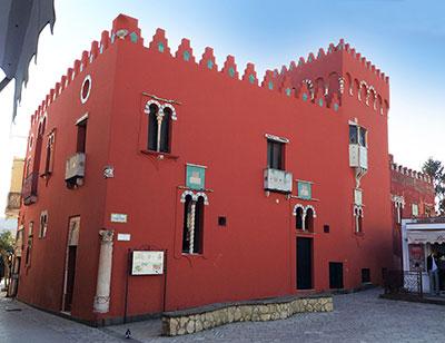 Casa Roja de Anacapri, fachada principal.
