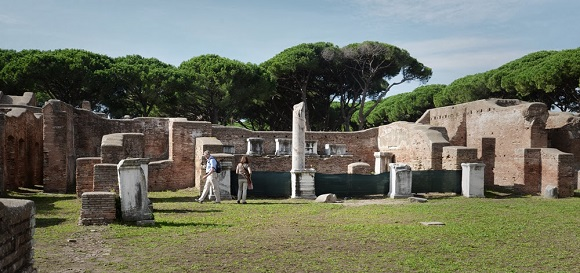 Cuartel de bomberos de Ostia Antica.