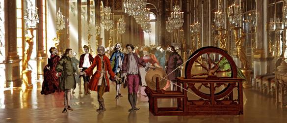 Experimento en el Gran Salón de los Espejos del Palacio de Versalles.