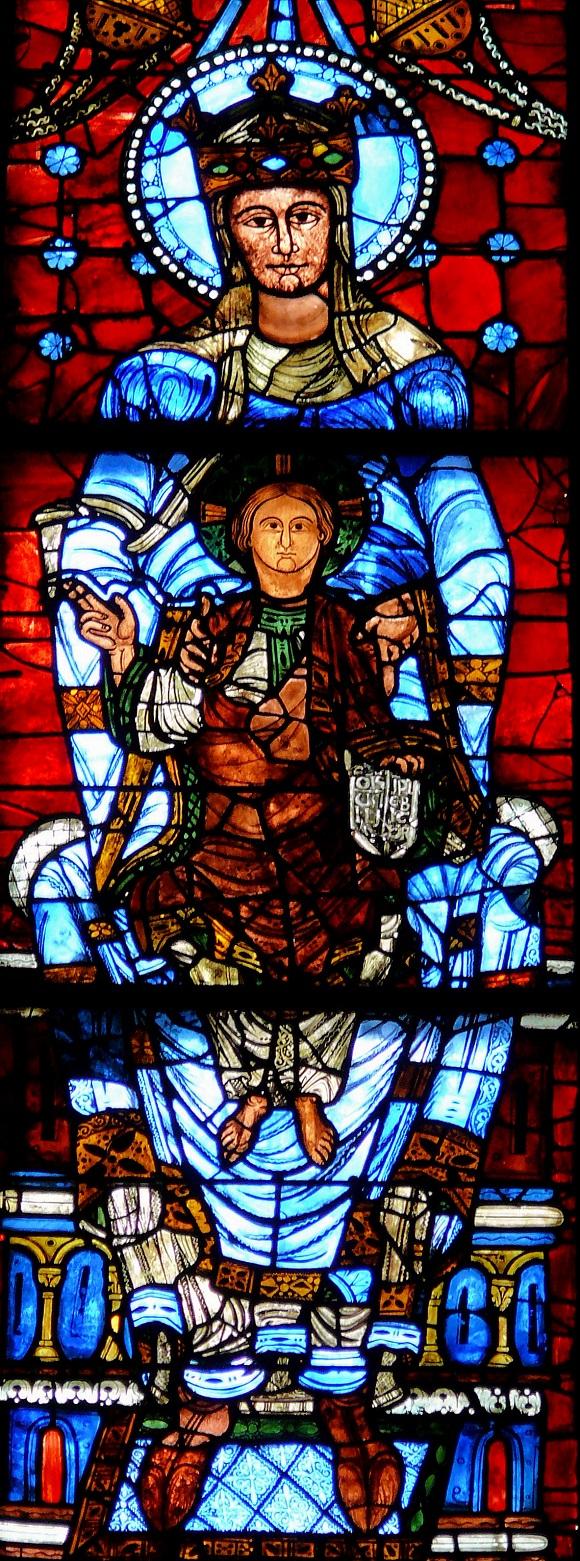 Vitral de la Notre Dame de  la Belle Verrière.