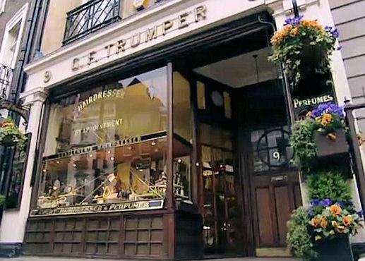 G.F Trumper, una barbería victoriana en el centro de Londres.