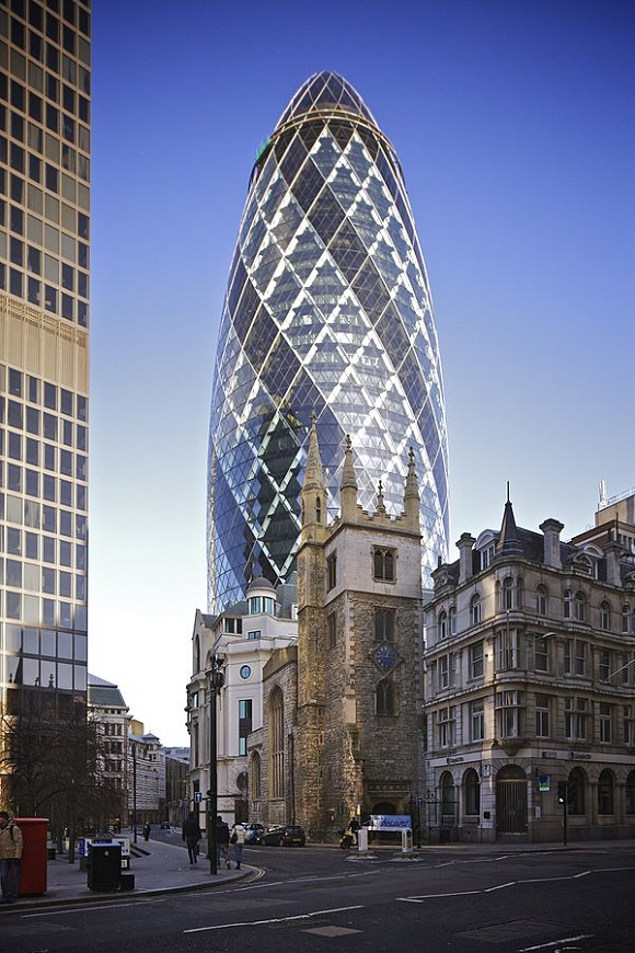 30 St Mary Axe  Wikipedia Commons by Aurelien Guichard