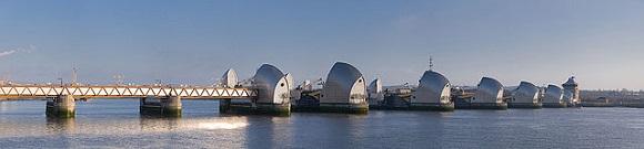 Una vista de la Thames Barrier.