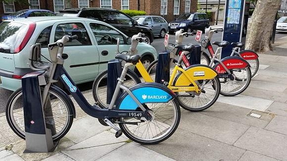 Bicicletas en Londres.