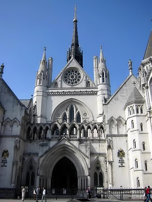 La Royal Courts of Justice de Londres.