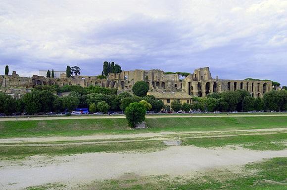 Circo Máximo en el Palatino.