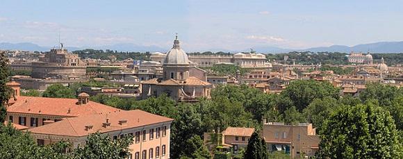 Vista desde la colina del Gianicolo.