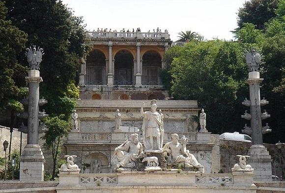 Jardines del Pincio.