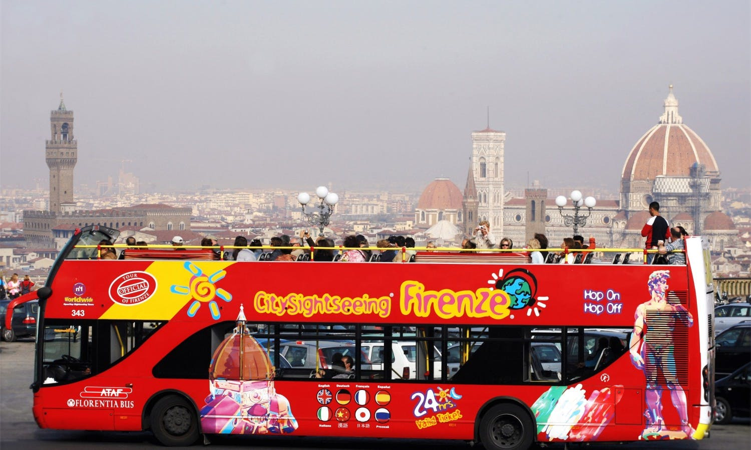 Florence Hop-on Hop-off Bus Tour - 24, 48, 72 Hours Tickets